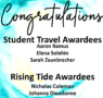 Congratulations to Student Awardees!