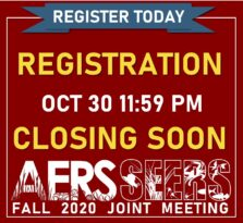 2020 Fall AERS-SEERS Joint Meeting: Registration is Open!